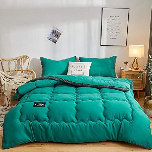 TOSBTD All-Season Down Alternative Quilted Comforter Premium Soft Duvet Insert Box Stitched Quilt for Home, Hotel, Dorm Room,Green,180x220cm/4kg