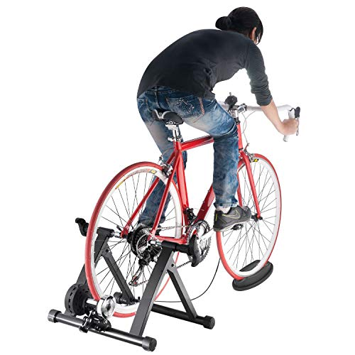 Sibosen Bike Trainer Stand Indoor Magnetic Bicycle Exercise Stand with Magnetic Flywheel and 6 Levels Resistance for Mountain & Road Bike