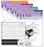 Piano Adventures Level 3B Learning Set By Nancy Faber - Lesson, Theory, Performance, Technique & Artistry Books & Juliet Music Piano Keys 88/61/54/49 Full Set Removable Sticker