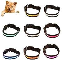 ³Hohe Sichtbarkeit: Dank der einzigartigen lichtemittierenden LED-Hundehalsbänder ist Ihr Hund im Dunkeln leicht zu erkennen und sicherer zu laufen, ohne versehentlich auf andere Wanderer, Jogger, Radfahrer und Fahrer zu stoßen ³Einfach zu bedienen: ...