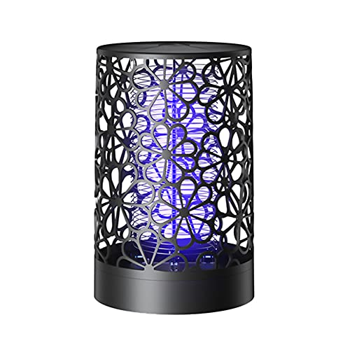 LILOVE Ultraviolet Mosquito Killer Lamp, USB Night Light LED Insect Trap Radiationless Mosquito Repellent for Outdoor, Indoor, Patio, Garden (Black)