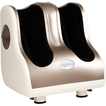 Lifelong LLM909 MAX Foot, Leg and Calf Massager with maximum leg coverage, 80W, 4 Motors, Brown