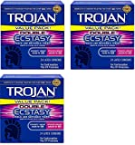 Condoms Double Ecstasy Lubricated, 3 Boxes (24 Count)