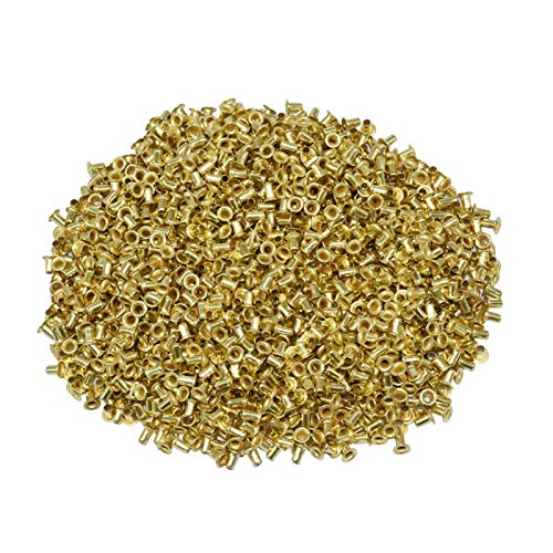 XIAOFANG 12100 PCS Bee Colmena Instalación Hilo Horno Material Chapado en Cobre Acerca de Las Herramientas de Apicultura Ojos de Cobre Suministros de Apicultura (Color : Gold, Size : L)