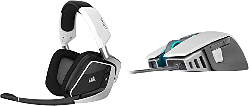 Corsair Gaming Void RGB Elite Wireless Premium Gaming Headset with 7.1 Surround Sound, White & M65 RGB Elite - FPS Gaming ...