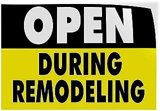 Open During Remodeling #2 Indoor Store Sign Vinyl Decal Sticker 8