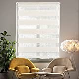 i@HOME Doppelrollo ohne Bohren (60 x 150 cm), Rollos für Fenster & Türen ohne Bohren Thermorollo Fensterrollo Seitenzugrollo für Sichtschutz & Sonnenschutz (Nature, 60 x 150 cm)