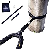 J Bryant Fitness Extra Length Outdoor Battle Rope Anchor Strap Kit Accessories Sport for Rope Easy Setup Home Gym Muscle Workout Equipment 31' Length