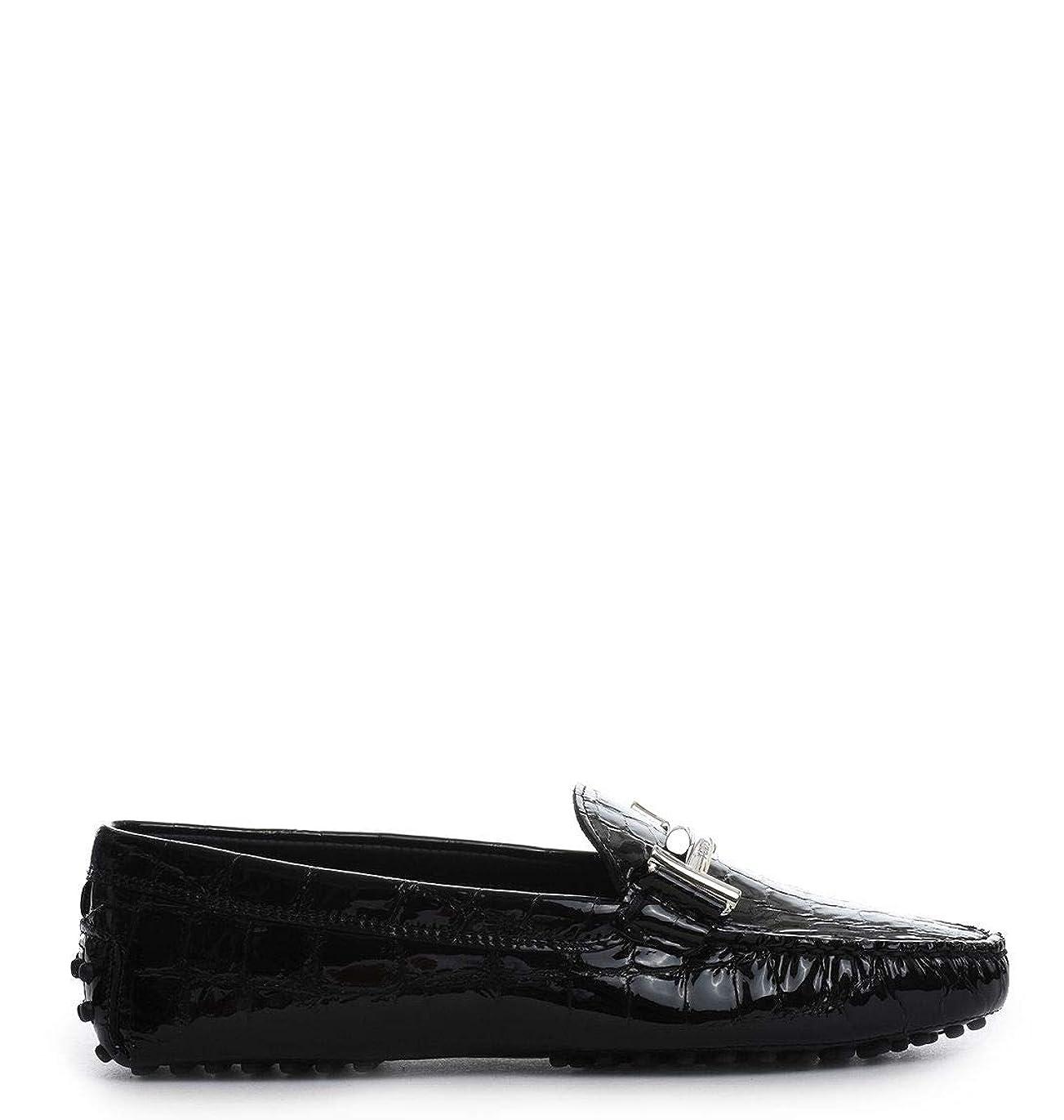 プランテーション剣群れTod's レディース XXW00G0Q490SCEB999 ブラック 革 布鞋