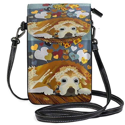 XCNGG Monedero pequeño para teléfono celular Golden Retrieve Cell Phone Purse Wallet for Women Girl Small Crossbody Purse Bags
