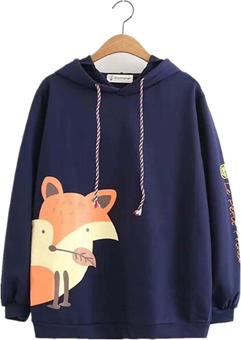 XVOVX Girls Animal Fixed Ranking TOP18 price for sale Narwhal Fox Cotton Long Sleeve Pullove Hoodie