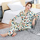 MDHDSY Women Clothes Pajamas Sweet Women Sleepwear Set Girl Nightgown Long Pant Cute Pajamas Sets M C D zhuomuniao BAI