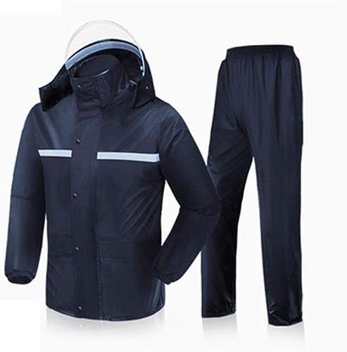 XAOPN Imperméable Noir Rouge Bleu Foncé Coupe-Vent Imperméable Imperméable portable Ensemble Imperméable Double Pantalon De Pluie Pluie Chaude