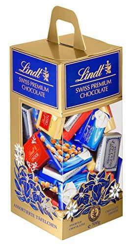 Lindt - Tubo Napolitains SWISS PREMIUM CHOCOLATE - Chocolats Assortis - 500g