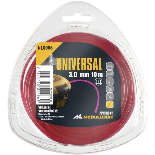Universal Trimmerfaden Nylon 3.0mmx10m, NLO006: Ersatzfaden für Rasentrimmer, Länge 10 m, Faden-Ø 3.0 mm, reißfestes Nylon (Artikel-Nr. 00057-76.163.06)