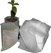 "DGQ Biodegradable Non-Woven Nursery Grow Bags 200pcs - 3.5""x4.7""+5""x5.9"" Plant Fabric Seedling Pots"