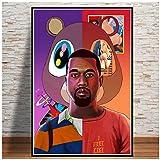 linshel Kanye West Poster und Drucke Rapper Musik Star