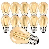 Energiesparend und umweltfreundlich:Hochwertige LED Leuchtmittel Filament Vintage E27 4W Warmweiß - Birnenform klein G45.Helligkeit von 4W LED Glühbirne e27 entspricht 10 Watt Glühlampe , können Sie sich die Leistung über 90% einsparen. Angenehmes Li...