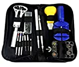 DOBO® Comodo kit in borsetta con zip cacciaviti orologi riparazione cinturino casse togli maglie orologio morsa professionale