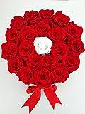 DR DeliRouse - Caja de Flores preservadas Rojas y Blanca...