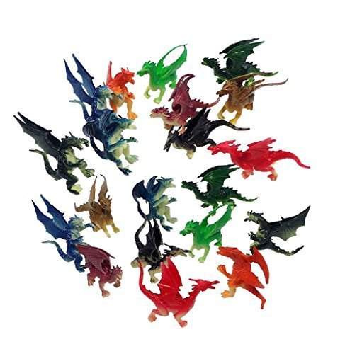 20 Pieces Mini Dragons 2.5...