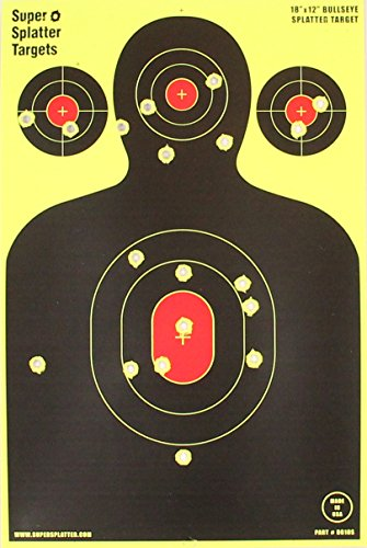 12' X 18' Silhouette Splatter Spots Targets 10, 25, 50 100 Packs See Your Hits Instantly (100)