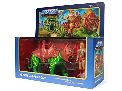 Super7 Pack 2 Figuras He-Man & Battlecat 10 cm. Masters del Universo. Reaction