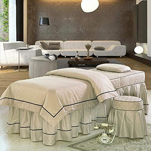 XKun Cubierta de cama de belleza de cuatro piezas de masaje de alto grado salud falda larga combinación 60X180CM (24x71')