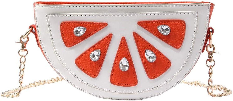 ZLULU Damen-Schultertaschen Damenhandtaschen Kontrastfarbe Orange Tasche Tasche Tasche Rhinestone Elegante Wilde Handschulterschulter Diagonale Kettenbeutel B07KDPR9X6  Mode neue Erfahrung 8500d2