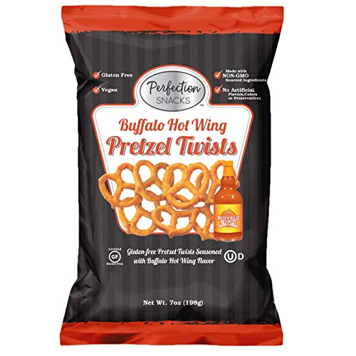 Perfection Snacks Gluten Free Pretzels (Buffalo Hot Wing, 3 Count / 7oz)
