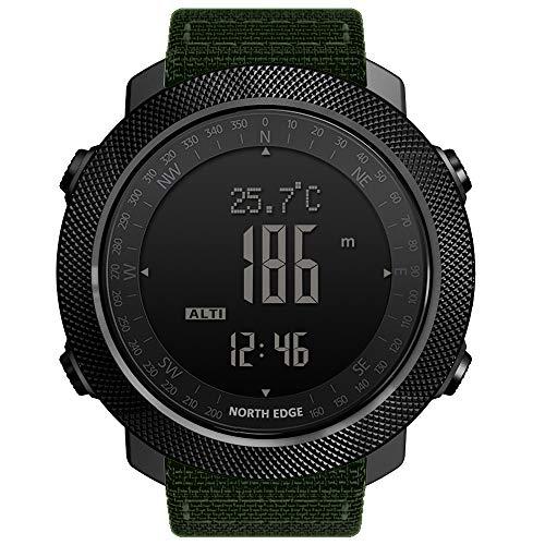 Clearlove77 Outdoor-Sport-Smartwatch, North Edge Apache Allmetall-Kletterschwimm-Multifunktionsuhr,Grün