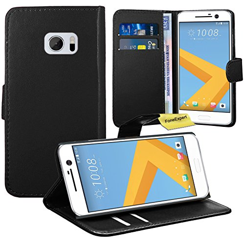 HTC One M10 / HTC 10 Handy Tasche, FoneExpert® Wallet Hülle Flip Cover Hüllen Etui Ledertasche Lederhülle Premium Schutzhülle für HTC One M10 / HTC 10