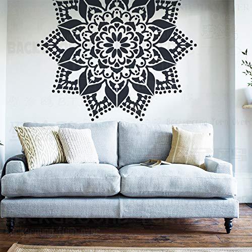 120cm Giant Mandala Indian Arabic Ethnic Round Stencil Plantillas Para Paredes Pintura Grande Plantilla Grande Mandala Reutilizable Plantillas De Suelo Pintura Decoración Marcos Azulejo