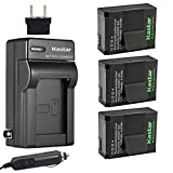 Kastar GOPRO3 Battery (3-Pack) and Charger Kit for GoPro HD HERO3, HERO3+, AHDBT-302 Work with GoPro AHDBT-201, AHDBT-301, AHDBT-302