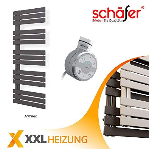 ELEKTRISCHE Design Badheizkörper ELANOR (600 x 1400 mm, Anthrazit)