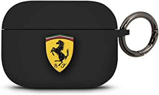 CG MOBILE Ferrari FEACAPSILGLBK Silicone Case for Apple Airpod Pro Black