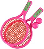 HLD Kinderschläger Badminton Tennisschläger-Set mit Kugel for Kinder Soft-Badminton mit Federball Bälle Jungen und Mädchen Strand Außen