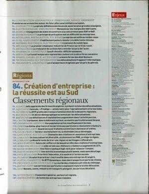 ENJEUX LES ECHOS [No 7] du 01/11/2004 - LE GRAND ATLAS DES ENTREPRISES 2005.