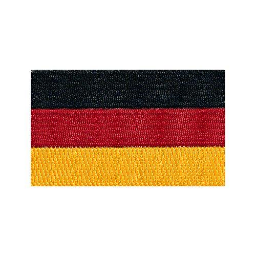 hegibaer 60 x 35 mm Deutschland Flagge Berlin Germany Patch Aufnäher Aufbügler 0674 B