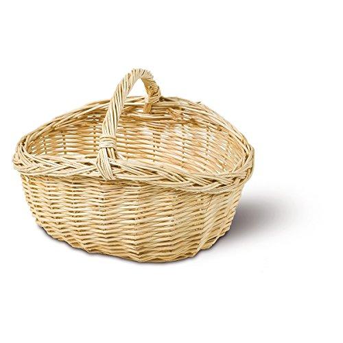 Adam Schmidt Einkaufskorb für Kinder, Korb oval, Weide Natur, Größe: 28 x 20 cm