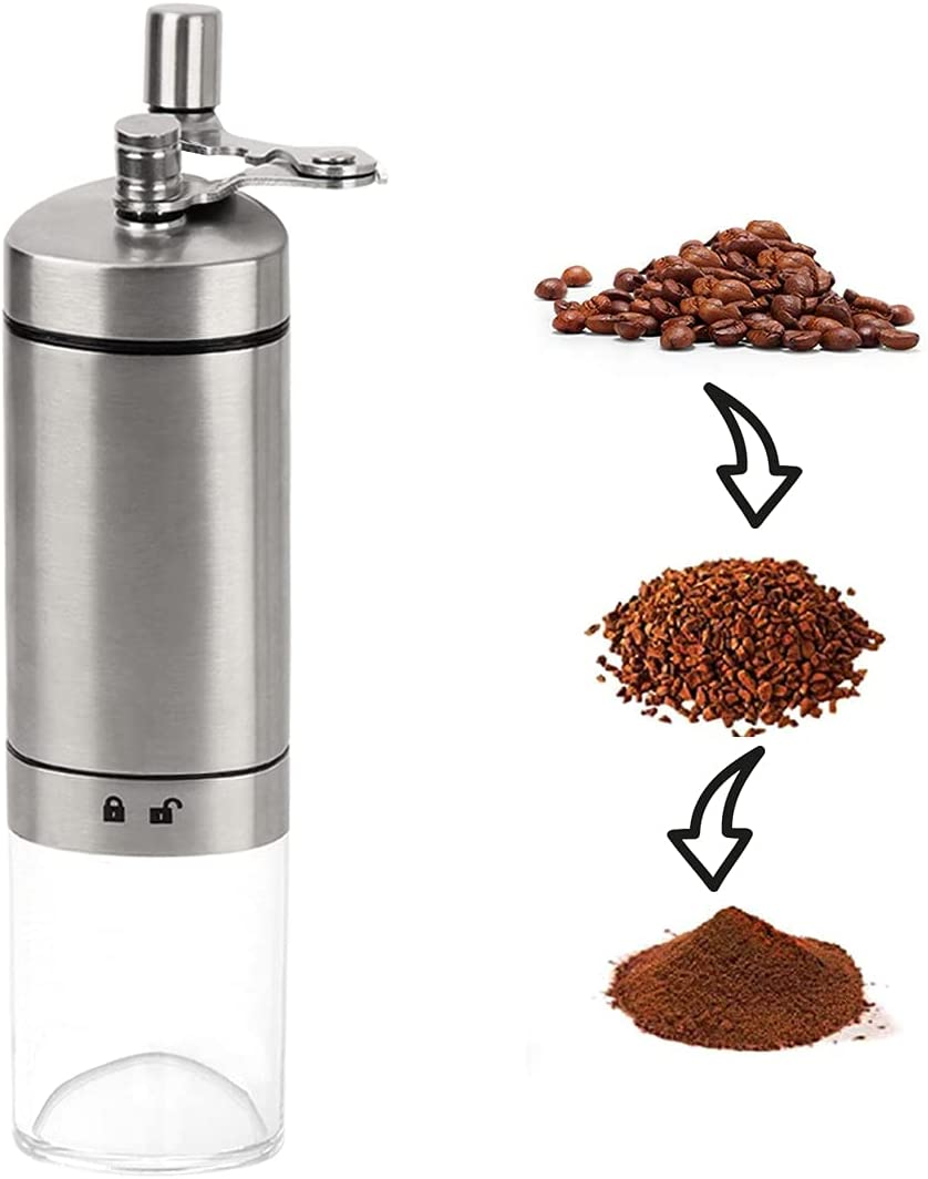 Cheap mail order sales Manual Topics on TV Coffee Grinder Stainless Adjustable Portable Steel Conic
