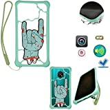 HUAYIJIE Universel Funda para Samsung Sm-G715fn Galaxy Xcover Pro 2020 Stand Cover Case Compatible 4'-6.6' Smartphone LSZ