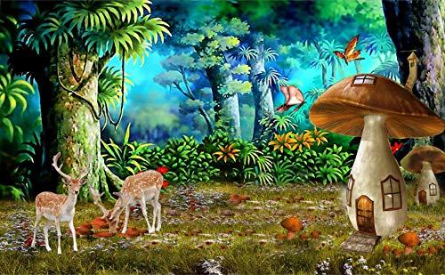 Puzzel Voor Volwassenen 500 Stukjes, Dream Forest Mushroom House, Sika Deer, 1500/1000/500/300 Stukjes, Kinderen Speelgoed Geschenken
