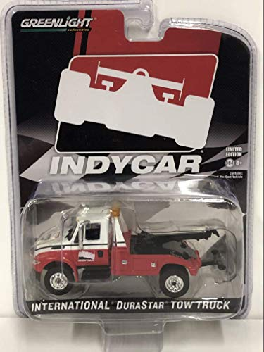 Greenlight International Durastar Tow Truck White And Red IndyCar Series Hobby Exclusive 1/64 Diecast Model by