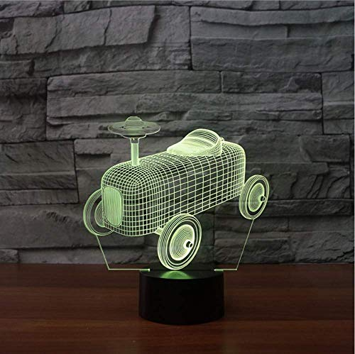 3D Touch Button Table Lamp 7 Colors Changing Car Shape Nightlight Led Old Tractor Light Fixture Sleep Lighting Decor Kids Gifts