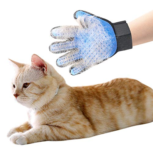 2021 Pair Right and Left Included Pet Grooming Glove for Dogs and Cats Hair Remover for Long and Medium and Short Fur Washable 1 Pair Right and Left Glove Included 1 Size Fits All
