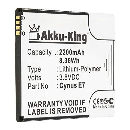 Akku-King Akku kompatibel mit Mobistel Cynus E7 - Li-Polymer 2200mAh - für Mobistel Cynus E7