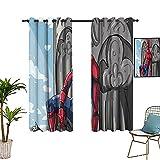 Cortina de aislamiento para decoración del hogar, Spider_man, cómic, dormitorio con cortinas opacas de 106,7 x 160 cm