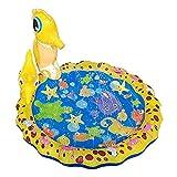 ZFAYFMA Alfombrilla de aspersor para niños, piscina hinchable familiar, juguete divertido de agua, alfombrilla de aspersor portátil y duradera, adecuada para piscinas amarillas
