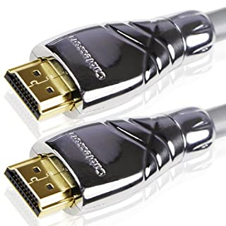 Cablesson Maestro 1m Ultra Advanced High Speed HDMI Cable with Ethernet v2.0/1.4a, 1080p 2160p 4k ARC 3D UHD TV XBOX 360/One PS3/4 SkyHD Virgin Box Wii U PC. Removeable Metal Die-cast casing (B002KH2MES)   Amazon price tracker / tracking, Amazon price history charts, Amazon price watches, Amazon price drop alerts